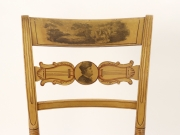 View 9: Set of Four New York Yellow Fancy Chairs with Benjamin Franklin, c. 1820