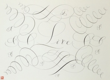 """Calligraphic Drawing, Love"""