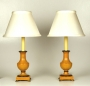 View 4: Pair of Turned Wood Baluster Lamps