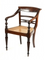 View 3: Four British Colonial Hardwood Open Armchairs