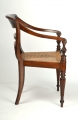 View 5: Four British Colonial Hardwood Open Armchairs