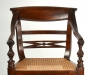 View 8: Four British Colonial Hardwood Open Armchairs